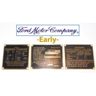 Jeu plaques identification laiton - Early Ford