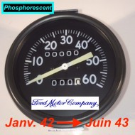 Compteur Miles Ford early. 1er Mle - Phosphorescent