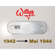Plaque de série chassis Willys