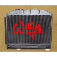 Radiateur Mle Willys - finition noire