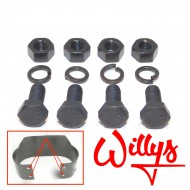 Set 4 boulons fixation Bumper AR - Willys
