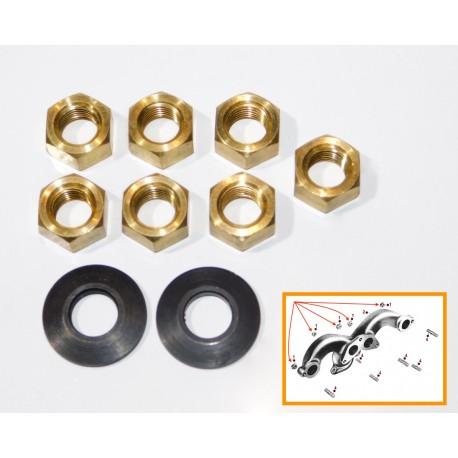 Jeu écrous bronze 3/8e, rondelles liaisons collecteurs
