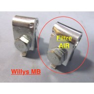 Clip cable frein à main sur filtre air - Willys MB - complet