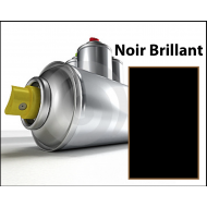 Bombe spray noir brillant
