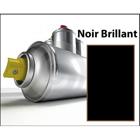 Bombe spray noir brillant