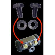 Vis fixation cylindre de roue - la paire