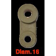 Jumelle plate extérieure Diam. 16