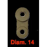 Jumelle plate intérieure Diam. 14
