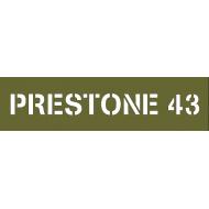 """pochoir capot moteur """" PRESTONE 43"""""""
