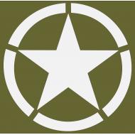 pochoir étoile cerclée standard
