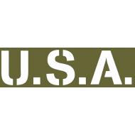 """pochoir adhésif latéral capot """"USA"""" standard"""