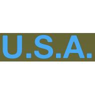 """pochoir adhésif latéral capot """"USA"""" Early"""