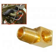 Coude huile valve collecteur