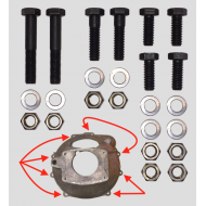 Kit fixation cloche embrayage / moteur