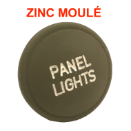 "Bouton ""Panel Lights"" - ZINC moulé"