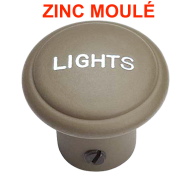 "Bouton ""Lights""- ZINC moulé"