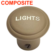 "Bouton de tirette  ""Lights"" - Plastique 1944"