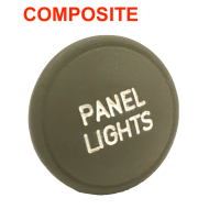 "Bouton de tirette  ""Panel Lights"" - Plastique 1944"