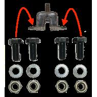 Kit fixation silent bloc moteur - 2 paires