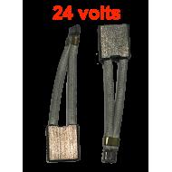 Balais démarreur 24V - la paire