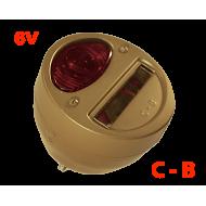 """lanterne arrière gauche STOP - """"Corcoran Brown"""" - 6v"""