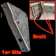 Gousset triangulaire renfort panneau caisse AR  - 1er Mle
