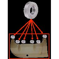 Rondelle entretoise tôle protection poulie vilebrequin