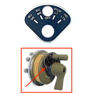 Plaque interrupteur rotatif - Type US