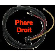Câble alimentation phare AV droit - type US