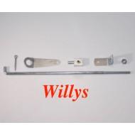 Commande d'accélérateur complet, Willys MB