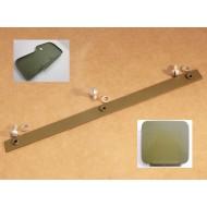 réglette fixation coffre outils / boîte gants, avec visserie