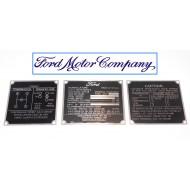 Jeu plaques identification zinc - Ford